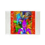 Science Disco Cupid Rectangle Magnet