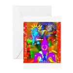 Science Disco Cupid Greeting Card