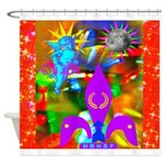 Science Disco Cupid Shower Curtain