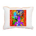 Science Disco Cupid Rectangular Canvas Pillow