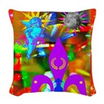 Science Disco Cupid Woven Throw Pillow