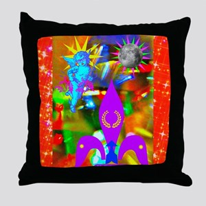 Science Disco Cupid Throw Pillow