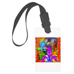 Science Disco Cupid Large Luggage Tag