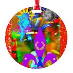 Science Disco Cupid Round Ornament