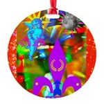 Science Disco Cupid Round Ornament