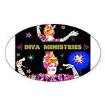 Diva Minister, Music Is My Bible Sticker (Oval 50