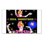 Diva Minister, Music Is My Bible Sticker (Rectangl