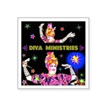 Diva Minister, Music Is My Bible Square Sticker 3
