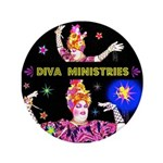 "Diva Minister, Music Is My Bible 3.5"" Button"