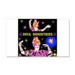 Diva Minister, Music Is My Bible Car Magnet 20 x 1