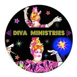 Diva Minister, Music Is My Bible Round Car Magnet