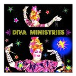 Diva Minister, Music Is My Bible Square Car Magnet