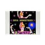 Diva Minister, Music Is My Bible Rectangle Magnet