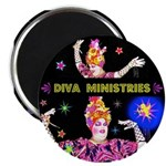 "Diva Minister, Music Is My Bible 2.25"" Magnet"
