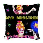 Diva Minister, Music Is My Bible Woven Throw Pillo