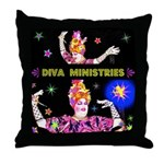 Diva Minister, Music Is My Bible Throw Pillow