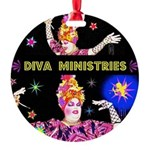Diva Minister, Music Is My Bible Round Ornament
