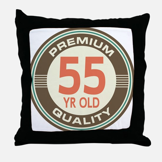55th Birthday Vintage Throw Pillow