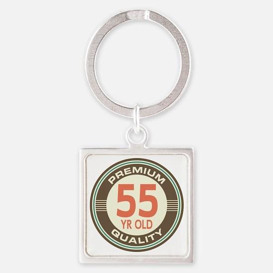 55th Birthday Vintage Square Keychain