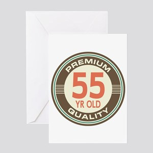 55th Birthday Vintage Greeting Card