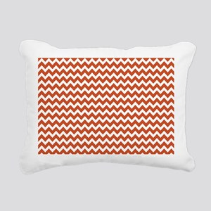 Pumpkin Orange Chevrons Zigzag Pattern Rectangular