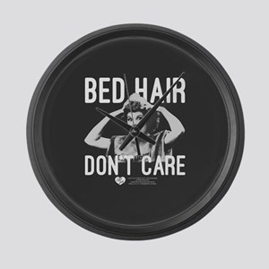 Lucy Bed Hair Don't Care Large Wall Clock
