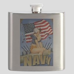 5 Military Pin Ups Flask