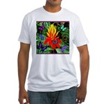 Hawaiian Torch Heliconia & Butterflies Fitted T-Sh