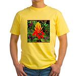Hawaiian Torch Heliconia & Butterflies Yellow T-Sh