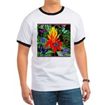 Hawaiian Torch Heliconia & Butterflies Ringer T