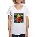 Hawaiian Torch Heliconia & Butterflies Women's V-N