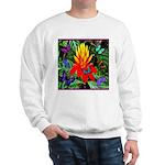 Hawaiian Torch Heliconia & Butterflies Sweatshirt