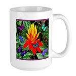 Hawaiian Torch Heliconia & Butterflies Large Mug
