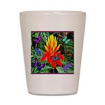Hawaiian Torch Heliconia & Butterflies Shot Glass