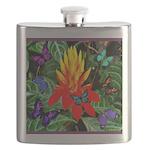 Hawaiian Torch Heliconia & Butterflies Flask
