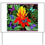 Hawaiian Torch Heliconia & Butterflies Yard Si