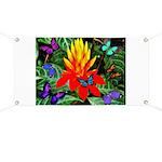 Hawaiian Torch Heliconia & Butterflies Banner
