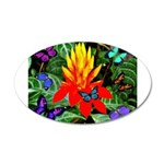 Hawaiian Torch Heliconia & Butterflies 20x12 O