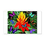 Hawaiian Torch Heliconia & Butterflies 20x12 W