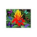 Hawaiian Torch Heliconia & Butterflies 35x21 W