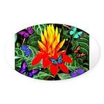 Hawaiian Torch Heliconia & Butterflies Sticker