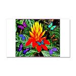 Hawaiian Torch Heliconia & Butterflies Car Mag