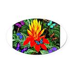 Hawaiian Torch Heliconia & Butterflies Oval Ca