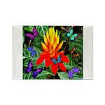 Hawaiian Torch Heliconia & Butterflies Rectang