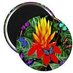 Hawaiian Torch Heliconia & Butterflies Magnet
