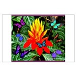 Hawaiian Torch Heliconia & Butterflies Large P
