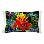 Hawaiian Torch Heliconia & Butterflies Pillow