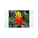 Hawaiian Torch Heliconia & Butterflies 3'x5' A