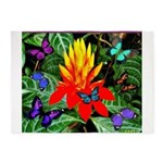 Hawaiian Torch Heliconia & Butterflies 5'x7'Ar