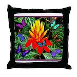 Hawaiian Torch Heliconia & Butterflies Throw P